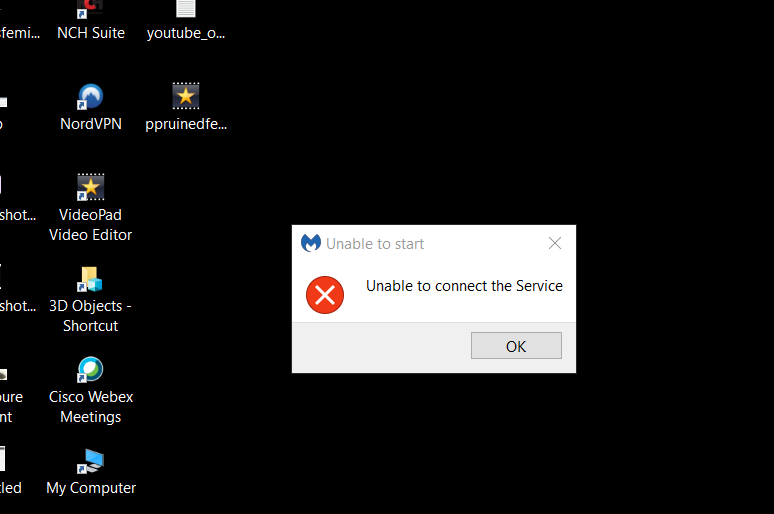 Malwarebytes Unable to Connect to Service