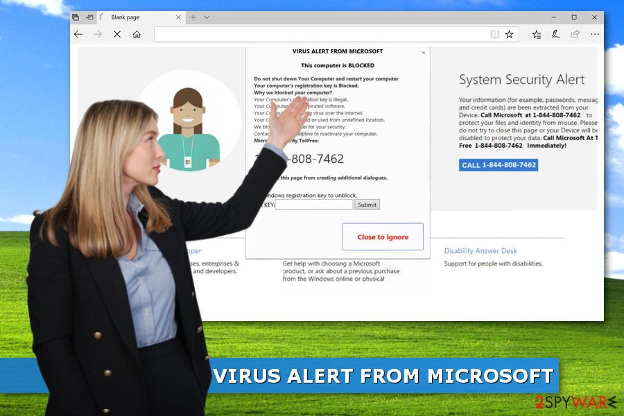 Virus Alert From Microsoft This Computer Is Blocked