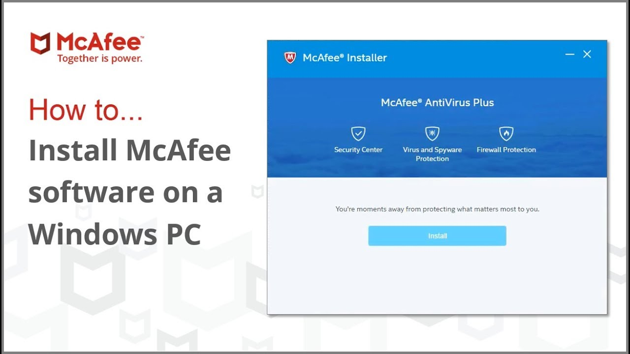 Activate McAfee antivirus on Windows & Mac